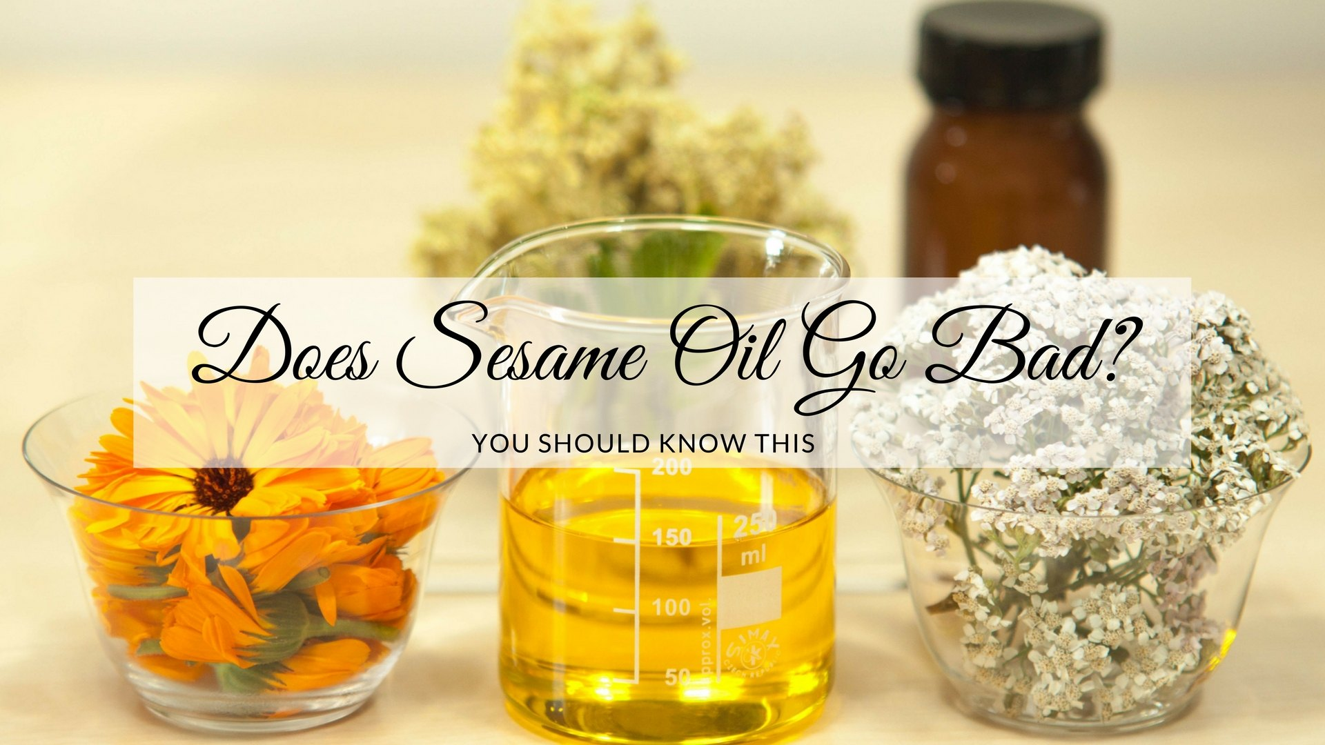 Does sesame oil go bad?
